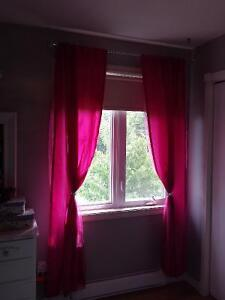 Beautiful pink curtains set of 2