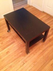 Dark wood IKEA coffee table for SALE