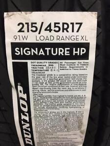 4 Brand New Dunlop Signature HP 215/45R17 *** WallToWallTires.com ***
