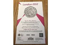 The official london 2012 50p collectable book