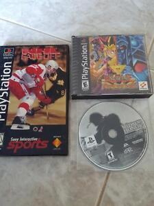 PS1 game yu gi oh forbidden memories, medal of honor and nhl