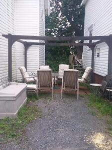 Wood buy or sell patio garden furniture in nova scotia for Outdoor furniture kijiji