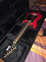 Electric guitar and amplifire and guitar case
