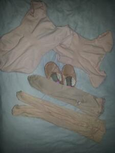 1 tight 1 shoes 1 leotard 1 pink skirt Toddler Ballet