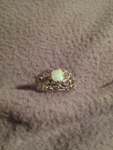 New Sterling Fire Opal Ring