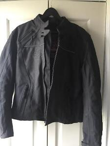 Ladies FXR Ignitor leather motorcycle jacket.