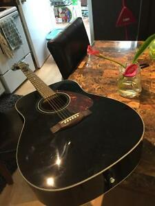 Black Yamaha Guitar