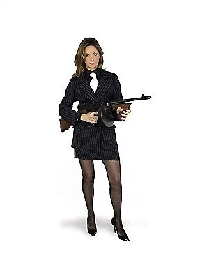 Charades Gangster Moll Skirt Costume 00782 Black/White - Gangster Moll Costumes