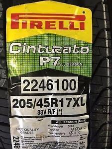 4 Brand New Pirelli Cinturato P7 205/45R17 Runflat All Seasons *** WallToWallTires.com ***