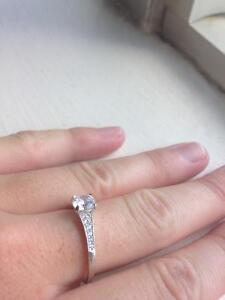 Promise Ring - 925 silver with cubic zirconia Kawartha Lakes Peterborough Area image 7