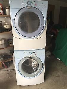"""Whirlpool 27"""" Front load stackable washer & electric dryer"""