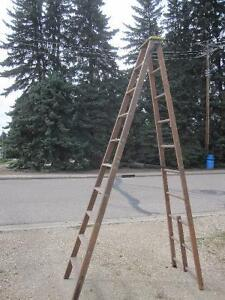 for sale.. 10 foot heavy duty industrial wood step ladder