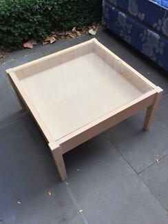 Timber & Glass Coffee Table and Side Table