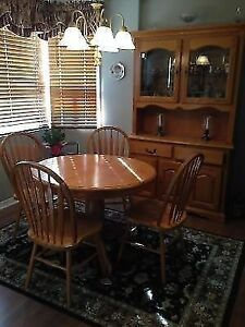 Dining Table with Matching Hutch Cambridge Kitchener Area image 1