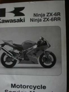 KAWASAKI NINJA ZX-6R/RR FACTORY WORKSHOP  SERVICE MANUAL c2003 Dianella Stirling Area Preview