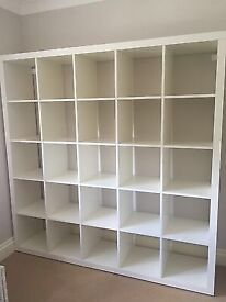 IKEA KALLAX WHITE 5X5. GOOD CONDITION IN WHITE. ONLY USED ONCE FOR DISPLAY AT EXHIBITION NOW SOLD