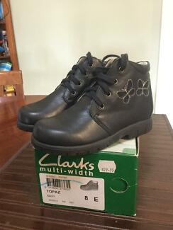 Clarks leather toddler boots size 8 and 24