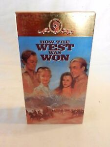 """Boxed SET--- """"How the West Was Won"""" (VHS MOVIE)"""