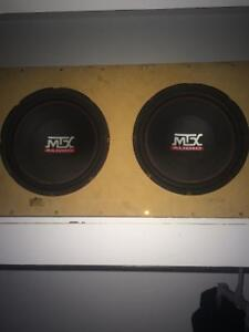 2 10 inch mtx subwoofers