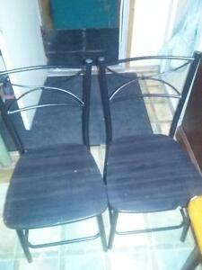 kitchen table and two chairs