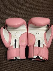 Pink Leather boxing gloves