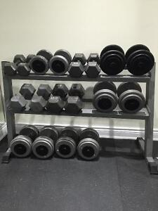 Full high quality dumbbell set. 20-80 pounds