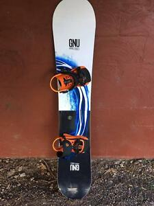 GNU Riders choice 2018 men's AMF snowboard + union pro bindings Brisbane City Brisbane North West Preview