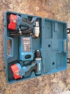 2 Makita Cordless Drills with case