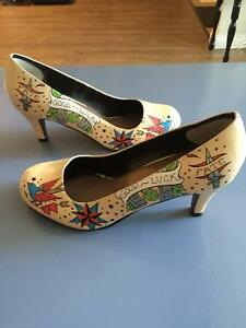 TUK UK tattoo design kitten heels