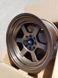 Time Attack 15x8.0 4x100 4x114.3 73.1 available in black or bronze