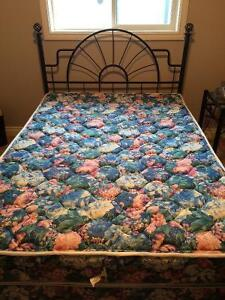 Bed frame / mattress and end table