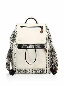 COACH Knapsack Bag Designer Snakeprint LIKE NEW $199 reg$700