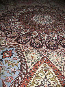 authentic Tabrizhand made in Iran fine 50 raj wool and silk new