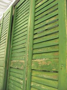 Old Weathered Porch Paint Green Shutters