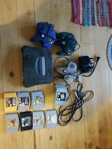 N64, Games, three controllers