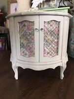 Vintage End Table Repurposed Into A Small Pet Dwelling