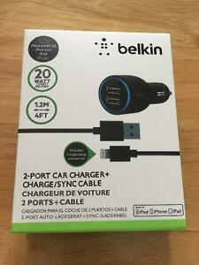 Belkin iPhone & iPad & Android Device Wall/Car Charger (BNIB)