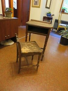 antique child's desk & chair