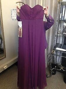 Brand new eggplant purple dress from Annette's bridal