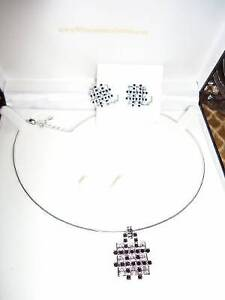 Fifth Avenue Collection Swarovski Crystal Pendants Earring Sets