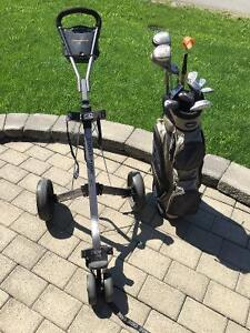 Ensemble de golf complet Lopez, Chariot Cadie et sac Adams Golf