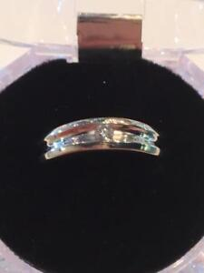 #1144 10K size 11 1/2 Men's White gold ring!!