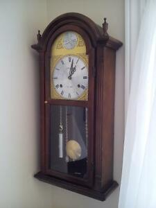Grandfather clock.  Wall hanging.