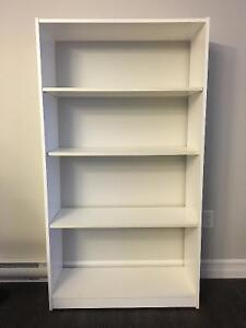 Two White Bookshelves for sale