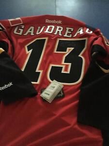 Large Calgary Flames Gaudreau Signed with COA - Never worn w tag