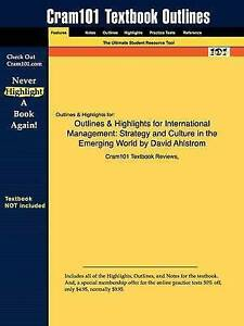 Outlines & Highlights for International Management: Strategy and Culture in the