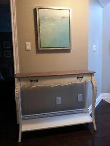 French Style Console Table - White