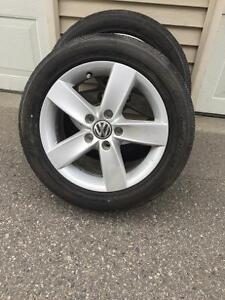 VW Beetle Rims with Tires