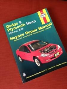 HAYNES REPAIR MANUAL - PLYMOUTH NEON