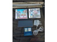 Nintendo DS XL Console Black with games